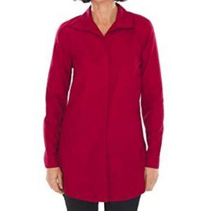 Chico's Wine Red Tunic Length Shirt Button Front